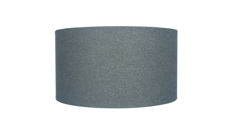 Glitter Cylinder Faux Linen Shade - Steel
