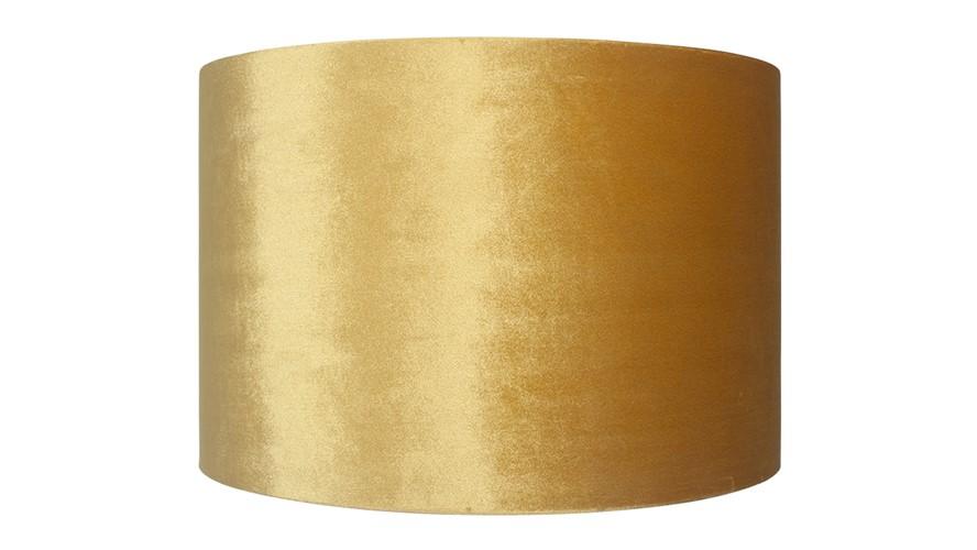 Velvet Cylinder Shade - Mustard