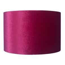 Velvet Cylinder Shade - Rapberry