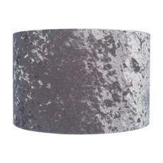 Crushed Velvet Cylinder Shade - Silver