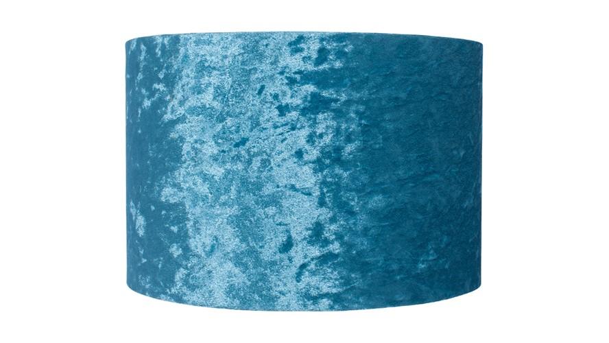 Crushed Velvet Cylinder Shade - Teal