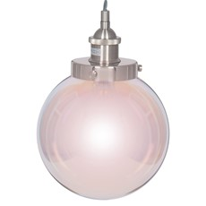 Electrified Satin Glass Ball Pendant - Large