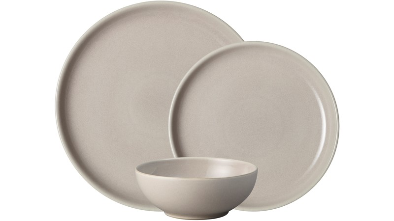 Denby Intro Tableware 12 Piece Dinner Set - Taupe