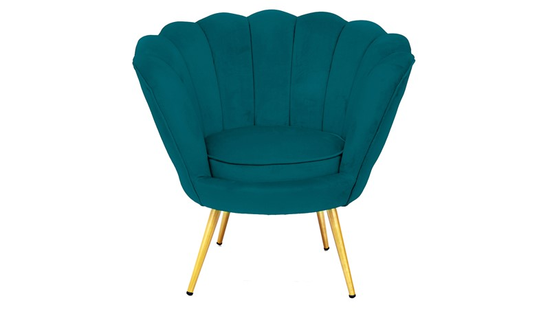 Scalloped Cocktail Chair - Teal