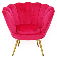 Scalloped Cocktail Chair - Pink