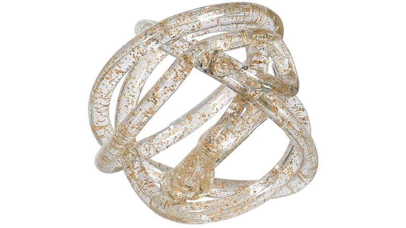 Gold Leaf Knot Ornament