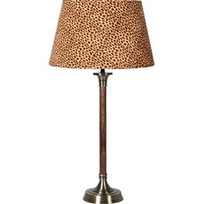 Velvet Leopard Print Table Lamp