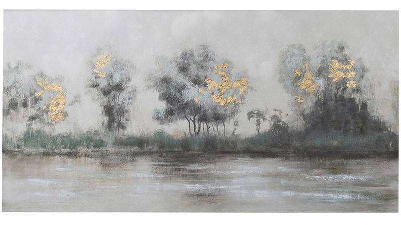 River Scene Oil Painting Canvas