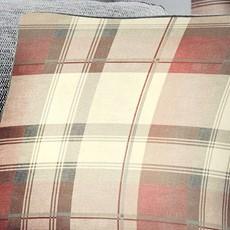 Balmoral Check Cushion - Blush