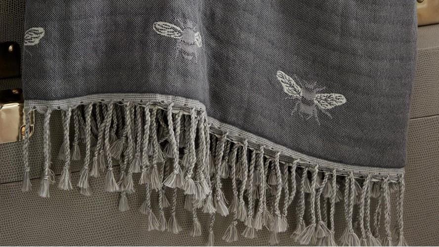 Sophie Allport Bees Throw - Duckegg