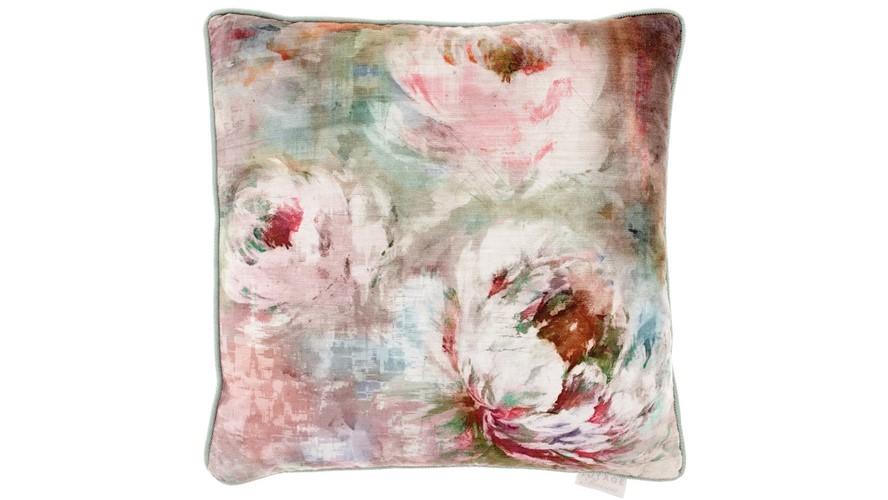Roseum Square Cushion - Coral