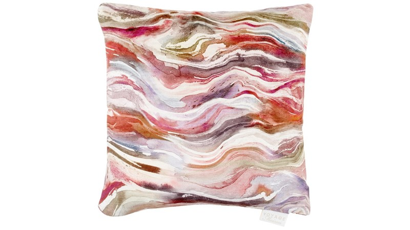 Verde Square Cushion - Coral
