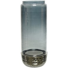Round Hurricane Glass Vase