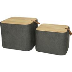 Wooden Storage Stool