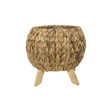 Sea Grass Basket On Wood Legs