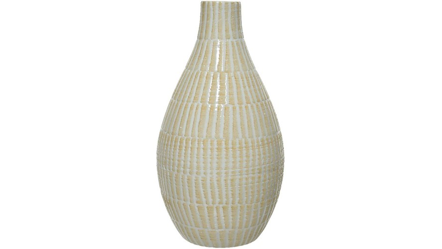Earthware Embossed Vase