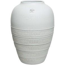 Terracotta Vase - White