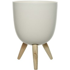 Dol Planter On Wooden Stand
