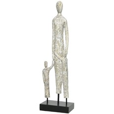 Mango Wood Mother With Children Ornament
