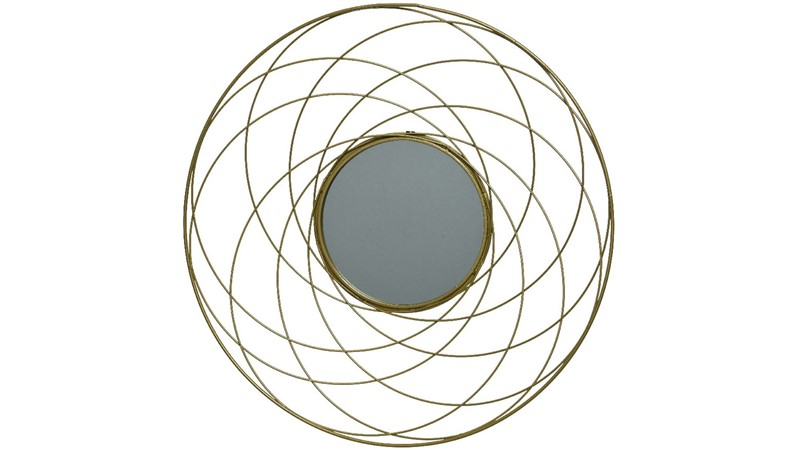 Wire Wall Mirror - Gold