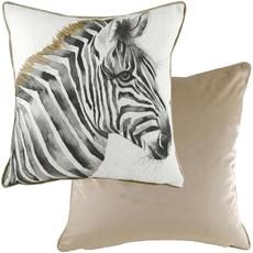 Royal Velvet Zebra Square Cushion - Mocha