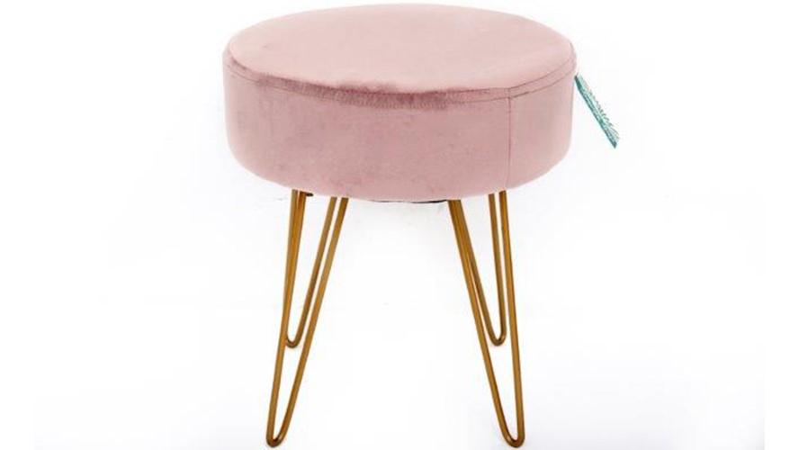 Astonishing Velvet Stool Pink Sterling Furniture Cjindustries Chair Design For Home Cjindustriesco