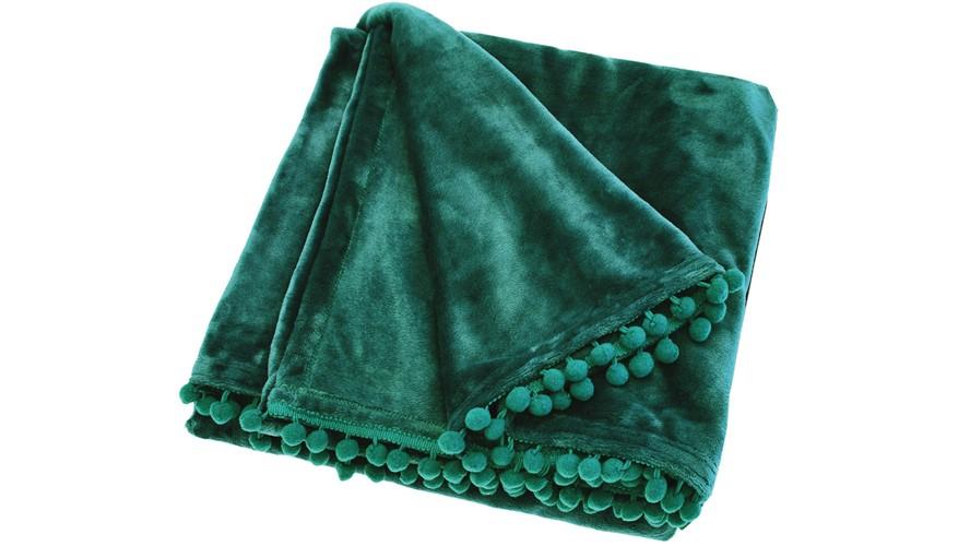 Cashmere Touch Verdigris Throw - Green