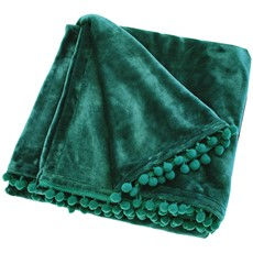 Cashmere Touch Verdigris Throw - Green