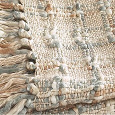 Kelso Natural Throw - Silver