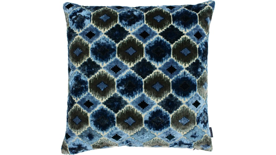 Ares Square Cushion - Blue