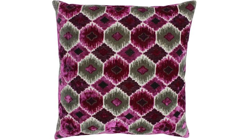 Ares Square Cushion - Fuchsia