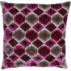 Ares Square Cushion - Fuchsia