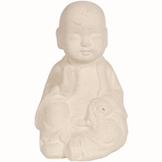 Buddha Sitting - Cream