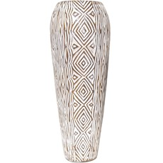 Natural Geometric Design Vase - Large