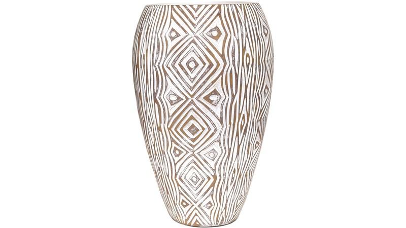 Natural Geometric Design Vase