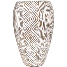 Natural Geometric Design Vase