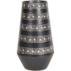 Ceramic Aztec Vase - Black