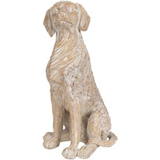 Etched Cream Dog