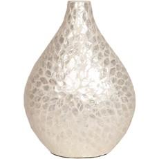 White Capiz Petal Vase