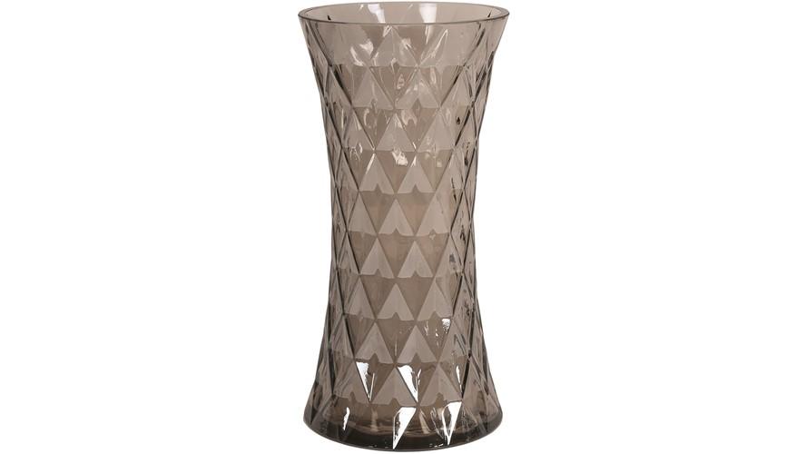 Brown Fluted Vase