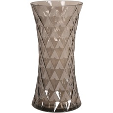 Brown Fluted Vase