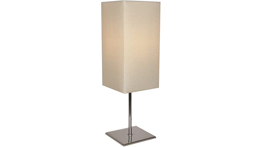 Textured Table Lamp - Silver & Cream