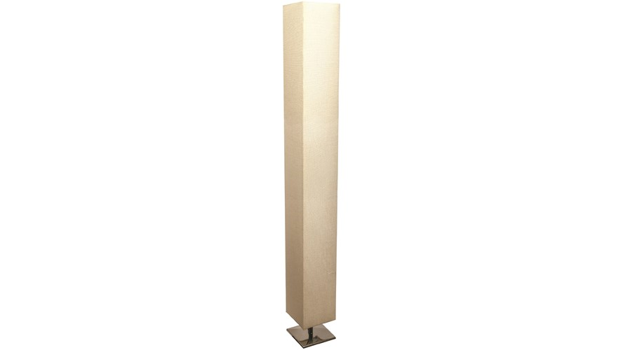Floor Lamp Textured - Silver & Cream