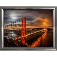 Golden Gate Evening Framed Print