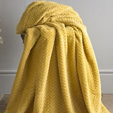 Brampton Throw - Ochre