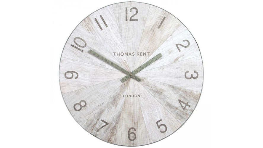 Wharf Pickled Oak Wall Clock