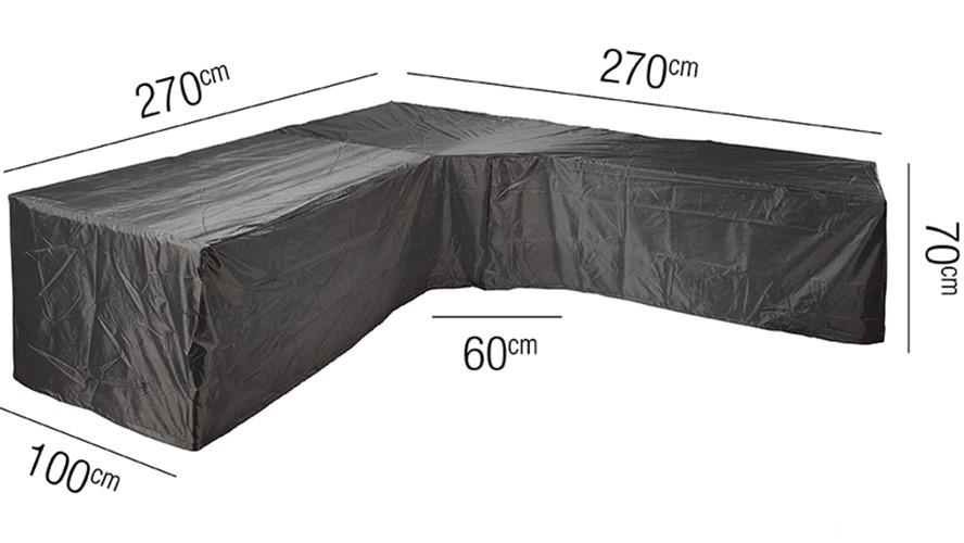 L-Shape Low Back Trapeze Corner Lounge Set Cover