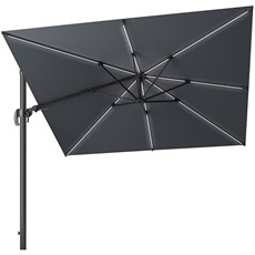 Challenger Glow LED Square Cantilever Parasol