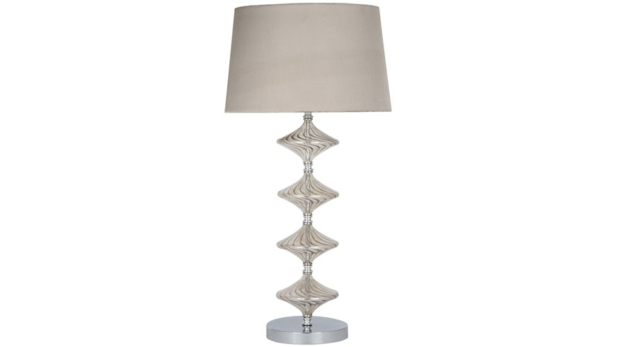 Glass Table Lamp - Metal & Lustre