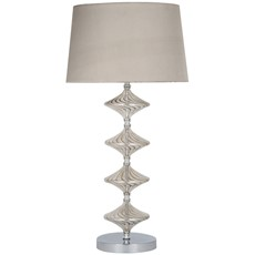 Glass Table Lamp - Metal & Lustre